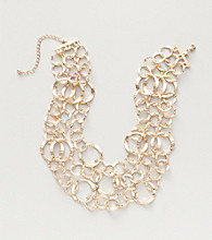 Erica Lyons® Gold Reflections Three Row Chain Necklace