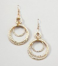 Erica Lyons® Gold Reflections Drop Pierced Earrings