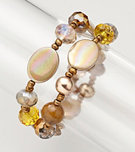 Erica Lyons® Topaz After Glow Two Row Stretch Bracelet