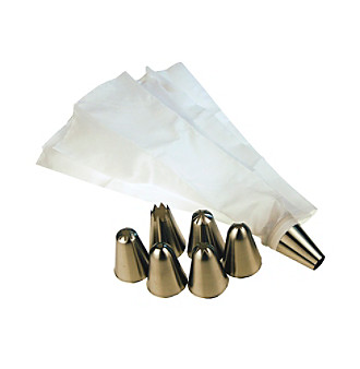 Fox Run Craftsmen® 11-pc. Icing Set with Stainless Steel Nozzles and Icing Bags