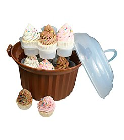 Fox Run Craftsmen® Brown Cup Cake Carousel