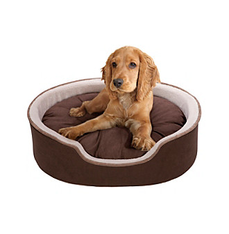 Soft Touch Oval Pet Cuddler with Cushion