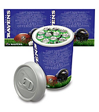 Baltimore Ravens Silver Gray Mega Can Cooler