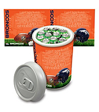 Denver Broncos Silver Gray Mega Can Cooler