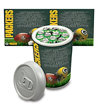 Green Bay Packers Silver Gray Mega Can Cooler