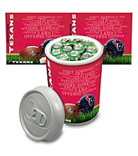 Houston Texans Silver Gray Mega Can Cooler