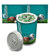 Miami Dolphins Silver Gray Mega Can Cooler