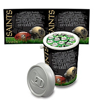New Orleans Saints Silver Gray Mega Can Cooler
