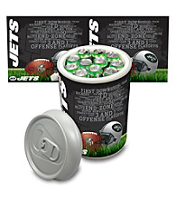 New York Jets Silver Gray Mega Can Cooler