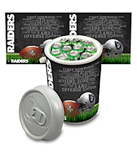 Oakland Raiders Silver Gray Mega Can Cooler