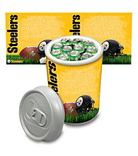 Pittsburgh Steelers Silver Gray Mega Can Cooler