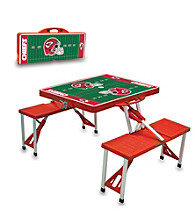 Kansas City Chiefs Red Picnic Table