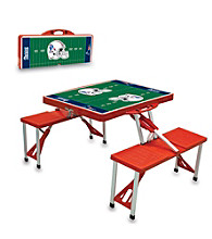 New England Patriots Red Picnic Table