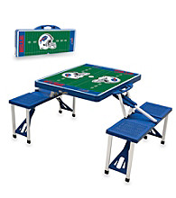 Buffalo Bills Blue Picnic Table