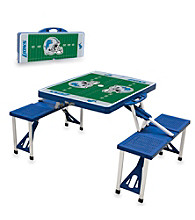 Detroit Lions Blue Picnic Table