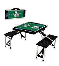 Carolina Panthers Black Picnic Table