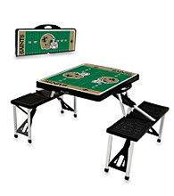 New Orleans Saints Black Picnic Table