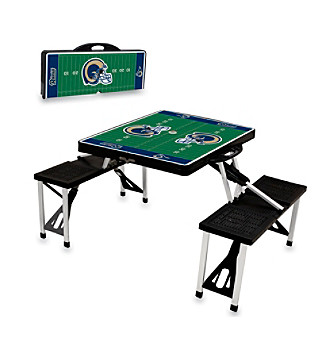 St.. Louis Rams Black Picnic Table