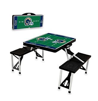 St.. Louis Rams Black Picnic Table