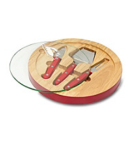 Arizona Cardinals Ventana Glass Top Cheese Board