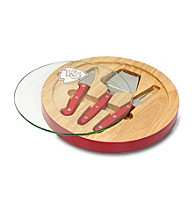 Kansas City Chiefs Ventana Glass Top Cheese Board