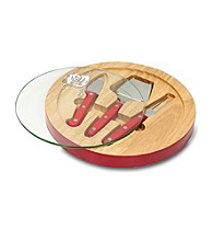 Tampa Bay Buccaneers Ventana Glass Top Cheese Board
