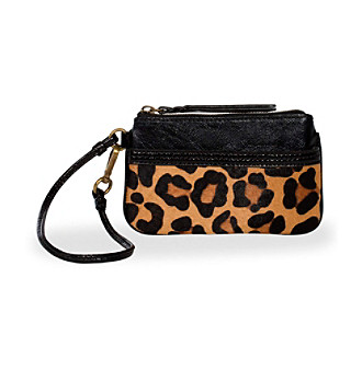 The Sak® Iris Black Leopard Wristlet