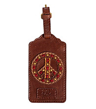 The Sak® Teak W/Peace Sign Lugage Tag