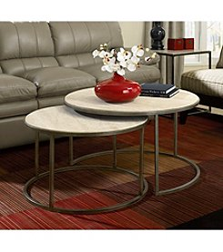 Hammary® Modern Basics Round Cocktail Nesting Tables