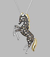 Diamond Horse Pendant