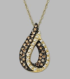 Brown and White Diamond Pendant
