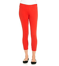 HUE® Chilli Twill Skimmer Leggings