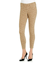 HUE® Chino Twill Printed Skimmer Leggings