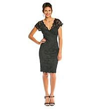 Marina Stretch Lace Little Black Dress