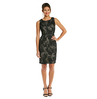 Calvin Klein Lace Rosette Sheath