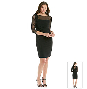 Vince Camuto Fitted Lace Cocktail Dress