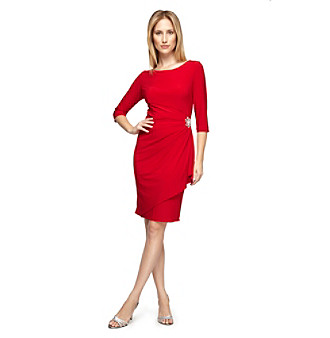Alex Evenings Side Ruched Short Cocktail Dress