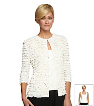 Alex Evenings Twinset with Tiered Ruffle Jacket