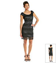 S.L. Fashions Twill Lace Sheath Dress.