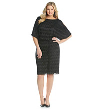 Jessica Howard Plus Size Cold Shoulder Blouson Dress