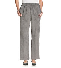 Alfred Dunner® Stretch Waistband Solid Pullon Corduroy Pant