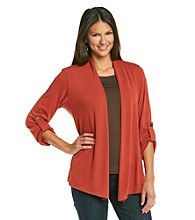 Notations Cardigan with Fold Up Sleeve