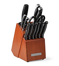 KitchenAid 14pc Triple Riveted Set With Gradual Bolster In Cherry Block