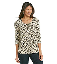 Relativity® Career Banded Bottom Pleatneck