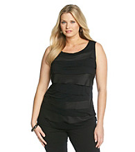 Relativity® Career Plus Size Horizontal Tiers Tank
