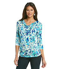 Relativity® Career Ruched Drapneck Top