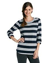 Calvin Klein Performance Striped Pullover Sweatshirt