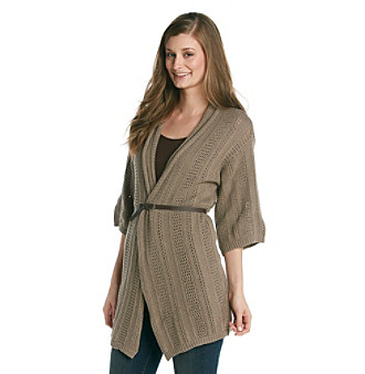 Eight Eight Eight® Open Stitch Belted Cardigan