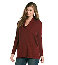 Eight Eight Eight Shawl Collar Texture Tunic