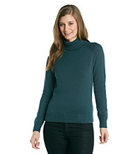 Jeanne Pierre® Jersey Turtleneck Sweater